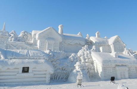 黑龙江室外雪雕